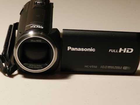 Panasonic Hc-V550 Camcorder Unboxing and REVIEW