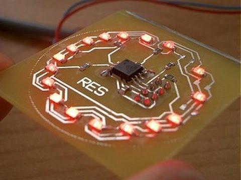 Arduino Charlieplexing an LED Matrix - YouTube