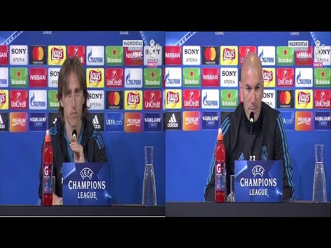JUVENTUS Vs REAL MADRID | MODRIC & ZIDANE Press Conference Pre-Match | 02/04/2018 Champions League