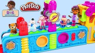 Video Disney Jr Doc McStuffins and Friends Visit Play Doh Mega Fun Factory Playset to Open Surprise Toys! MP3, 3GP, MP4, WEBM, AVI, FLV Oktober 2017
