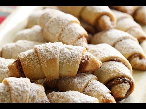 Ореховые рогалики рецепт фото