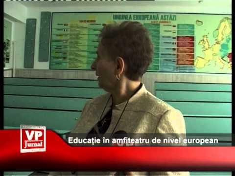 Educație în amfiteatru de nivel european