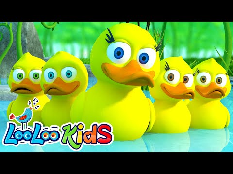 Five Little Ducks - THE BEST Song for Children | LooLoo Kids