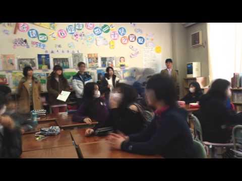 道志村小学校 5年生 ニュース番組制作ワークショップ