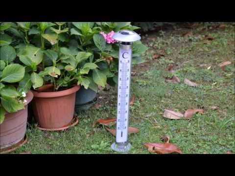oneConcept Sunometer Termometro Da Giardino Lampada Ad Energia Solare LED