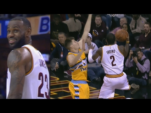LeBron James' Lob Pass Goes In! Kyrie Irving Crazy Layup! Nuggets vs Cavs