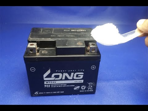 How to repair dead dry battery  , Lead acid battery repairation , at home , new ideas