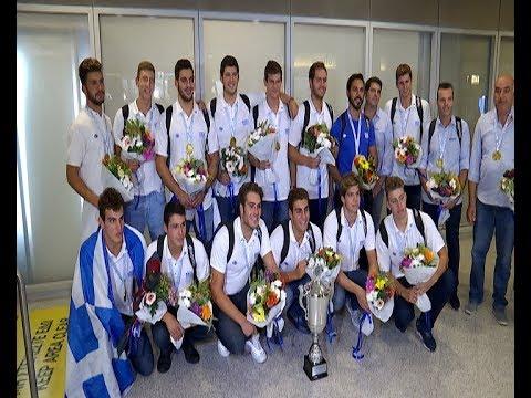 Υδατοσφαίριση: Άφιξη της πρωταθλήτριας Ευρώπης Εθνικής Νέων Ανδρών στο Ελ. Βενιζέλος