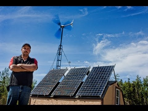 off grid home pictou county nova scotia using solar panels and wind turbines
