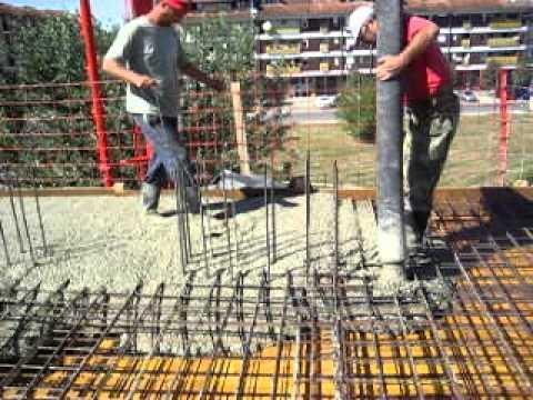 Betoniranje ploče III sprata