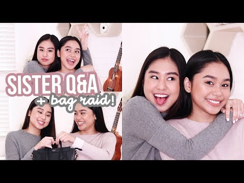 Sister Q&A: Bag Raid + First Crush?! | ThatsBella