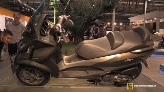 6. 2016 Piaggio MP3 Business 500 LT ABS ASR Three Wheel Scooter Leaning Demonstration - 2015 EICMA