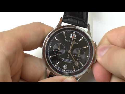 Zeit- und Datumseinstellung an einem Chronographen