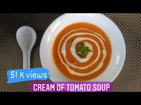 Cream Of Tomato Soup Recipe | Restaurant Style Tomato Soup At Home | Soup Recipes |Food Fiestaa