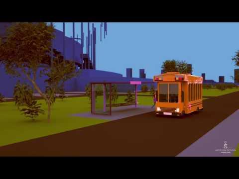 Wypadek autobusu szkolnego 3D model