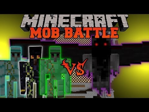 Demon Angel Vs. Obisidian Golem, Diamond Golem and Emerald Golem - Minecraft Mob Battles