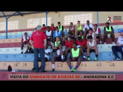 VISITA DO SINDICATO DE ATLETAS SP NO ANDRADINA E.C.