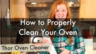 Tracey from https://www.LifeIsClean.com shows us how to properly clean your oven using Thor's Oven Cleaner! Thor Oven...