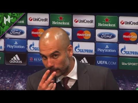 'Look at me when I'm talking to you!' Pep Guardiola loses his temper with reporter (видео)