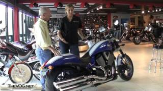 6. 2009 Victory Hammer S Motorcycle With Factory Rep