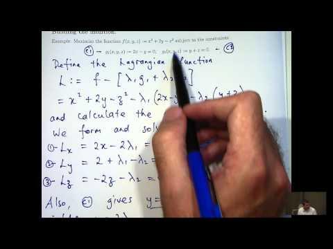 Lagrange-Multiplikatoren zB