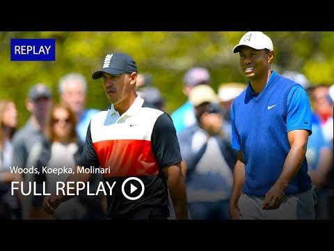 Full replay Tiger Woods, Brooks Koepka, Francesco Molinari in first round at 2019 PGA Championship