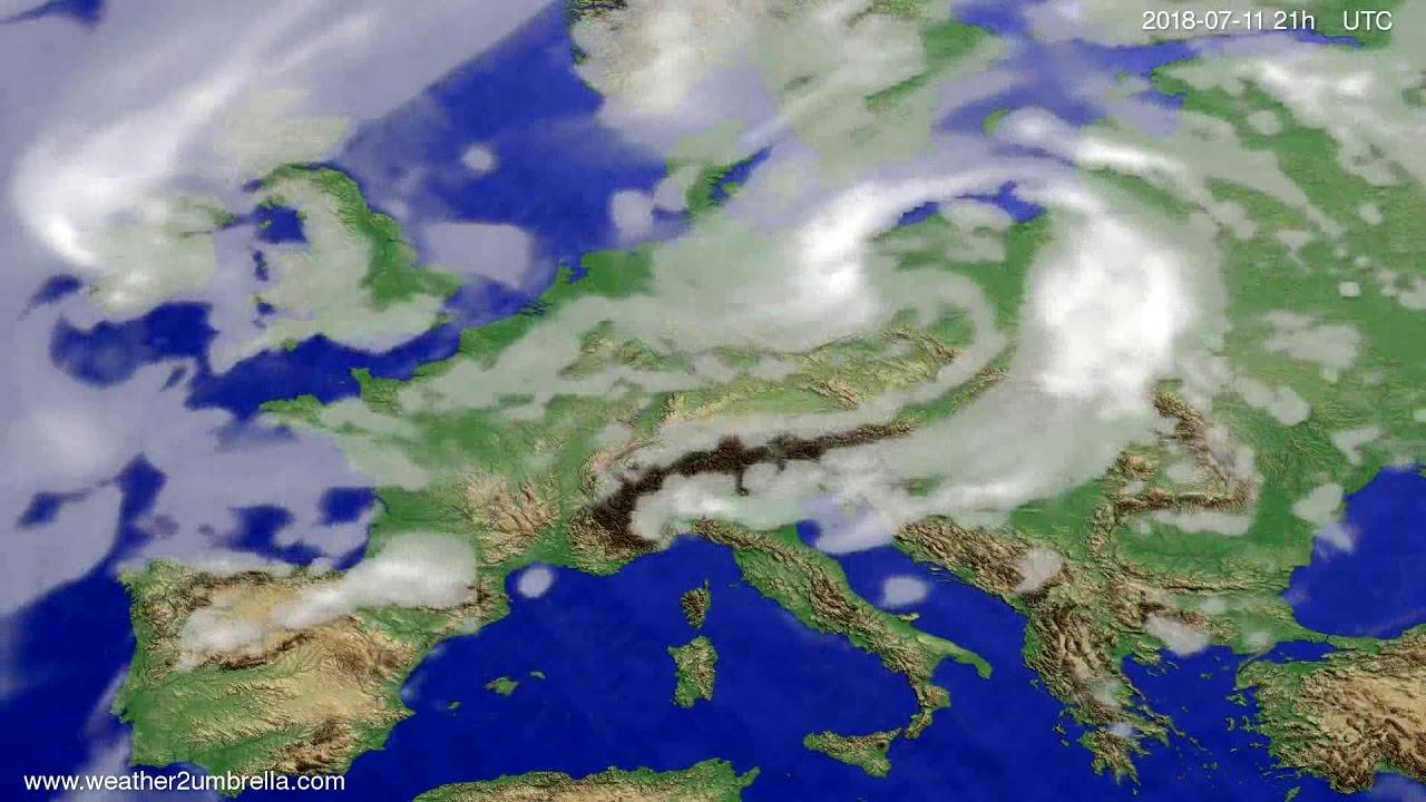 Cloud forecast Europe 2018-07-08