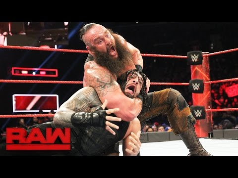 Roman Reigns vs. Braun Strowman: Raw, March 20, 2017