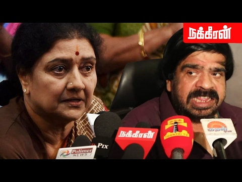 T. Rajendar funny comments on Sasikala words