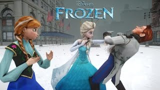 ANNA, ELSA vs HANS (FROZEN) - EPIC BATTLE