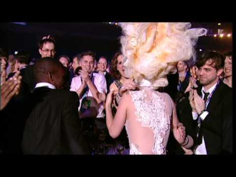 Lady Gaga wins International Album presented by Mika | BRIT Awards 2010