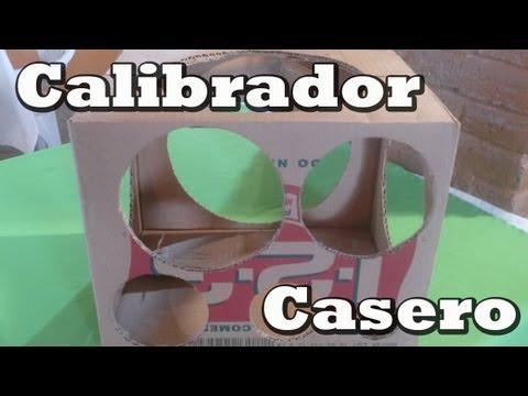 CALIBRADOR CASERO PARA DECORACION CON GLOBOS