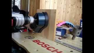Bosch GDE 68 - сверление коронкой деревянного мебельного листа