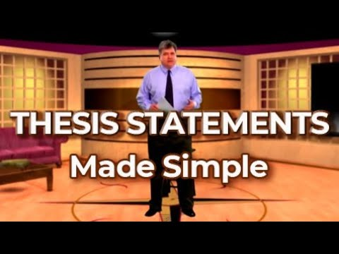 peakdavid - Thesis: A simple formula for thesis statements in your essays--a sentence that contains your topic + your position on the topic.