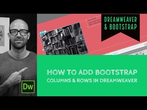 How To Add Bootstrap Columns & Rows In Dreamweaver - Dreamweaver Tutorial [15/54]