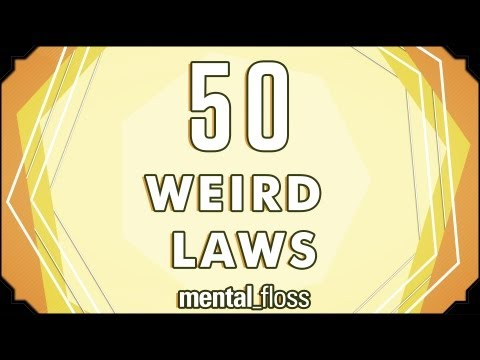 weird - A weekly show hosted by John Green, where knowledge junkies get their fix of trivia-tastic information. This week, John discusses 50 surprisingly illegal act...