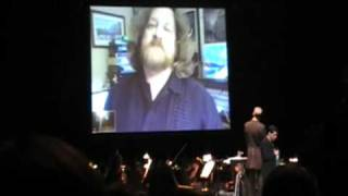 Video Games Live - First Time Ever - Live Song Intro With Russell Brower on Skype