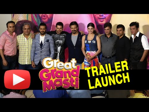 Great Grand Masti Trailer Launch Full Event | Afta
