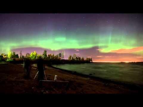 The night sky near St.Petersburg