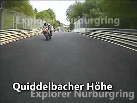 Nurburgring. Yamaha R1. Corner names added.