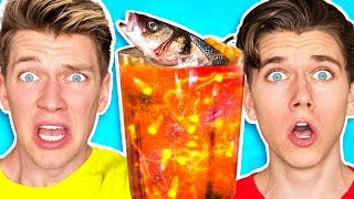 The Smoothie Challenge! *GOOD vs. GROSS* Learn DIY Edible Real Gummy Food Sour Candy Drink How To