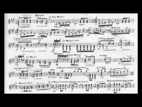Gustave Samazeuilh – Serenade for Guitar (Score video)
