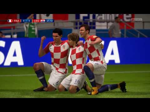FRANCE vs CROATIA (3-3)All Goals - RUSSIA WORLD CUP 2018 Prediction FIFA 18