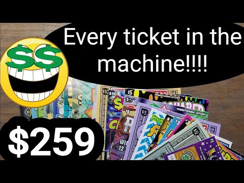 I Bought every ticket in the machine.Profit. $259 in Pa lottery scratch tickets.