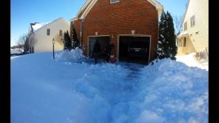 Timelapse Snow Cleaning snowstorm 2016