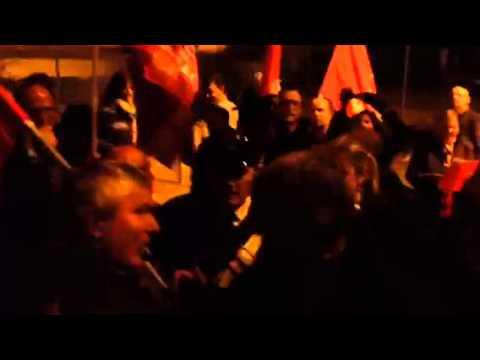 La protesta della Cgil contro Poletti