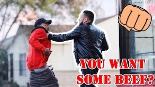 Video DO YOU WANT BEEF HOMIE? 🥩 (GOT PUNCHED IN THE FACE!) MP3, 3GP, MP4, WEBM, AVI, FLV Maret 2019