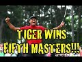 Tiger Woods wins Fifth Masters, set to Titanic Music