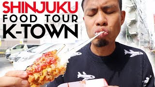 Tokyo Street Food Shinjuku Shin Okubo Top 6 | Korea Town's Insane Fried Cheese Corn Dog