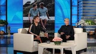 Ellen Chats with Inspiring College Football Player Jake Bain